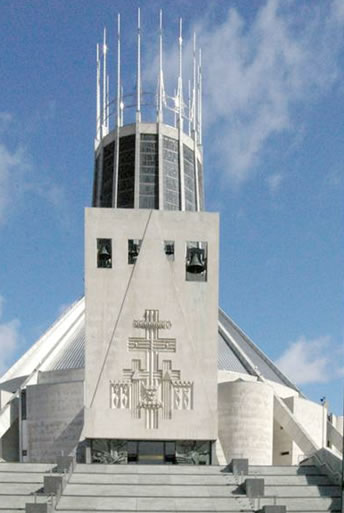 External view of Liverpool Metropolitan cathedral