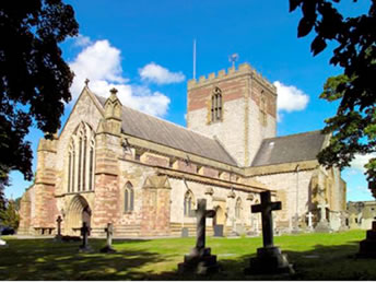 External view of the beautiful St Asaph Cathedral